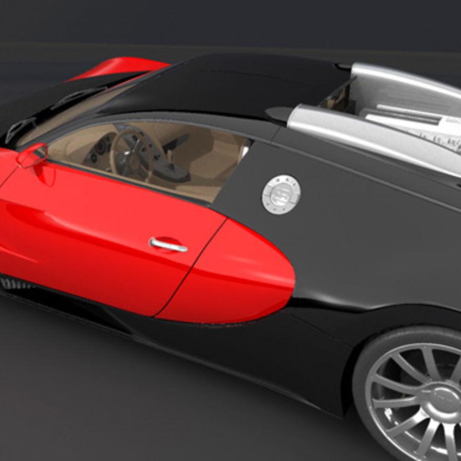 bugatti veyron max royalty-free 3d model - Preview no. 6