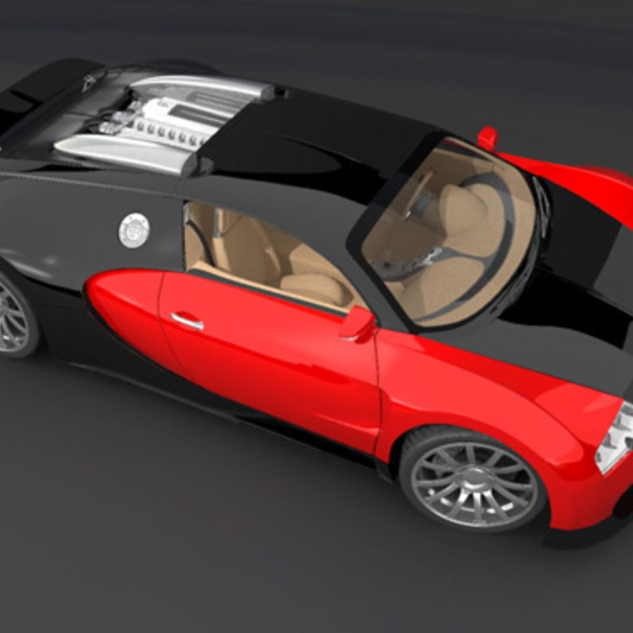 bugatti veyron max royalty-free 3d model - Preview no. 8