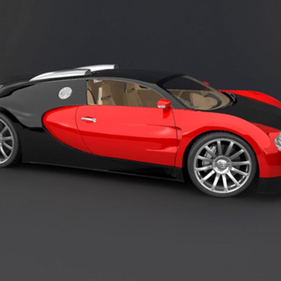 bugatti veyron max royalty-free 3d model - Preview no. 7