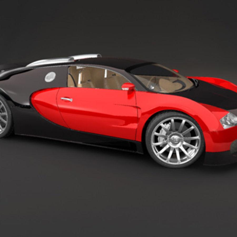 bugatti veyron max royalty-free 3d model - Preview no. 2