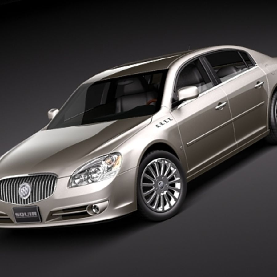 buick lucerne 2009 royalty-free 3d model - Preview no. 1