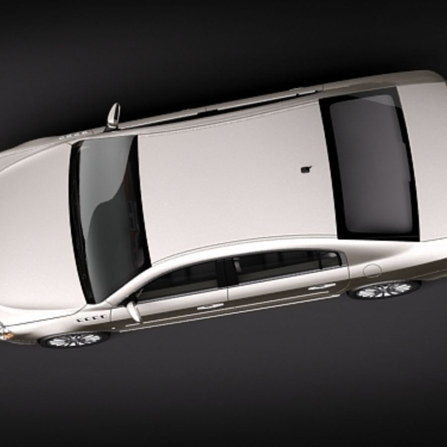 buick lucerne 2009 royalty-free 3d model - Preview no. 8