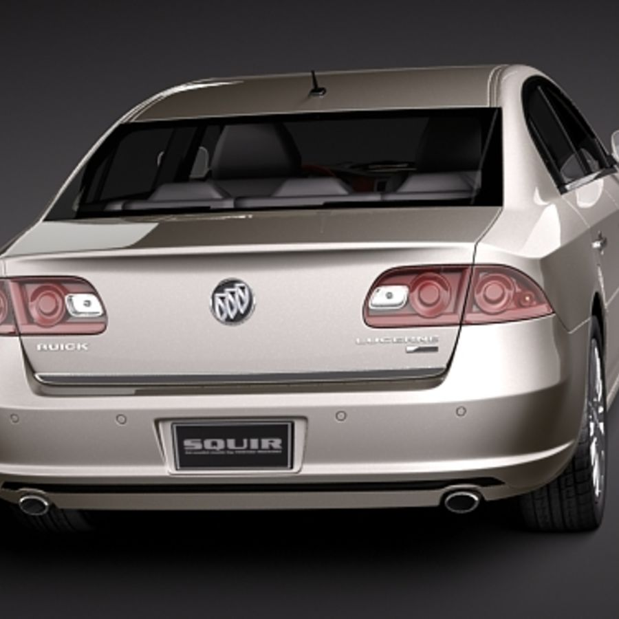 buick lucerne 2009 royalty-free 3d model - Preview no. 4
