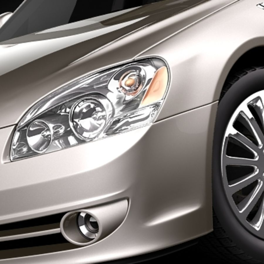 buick lucerne 2009 royalty-free 3d model - Preview no. 3
