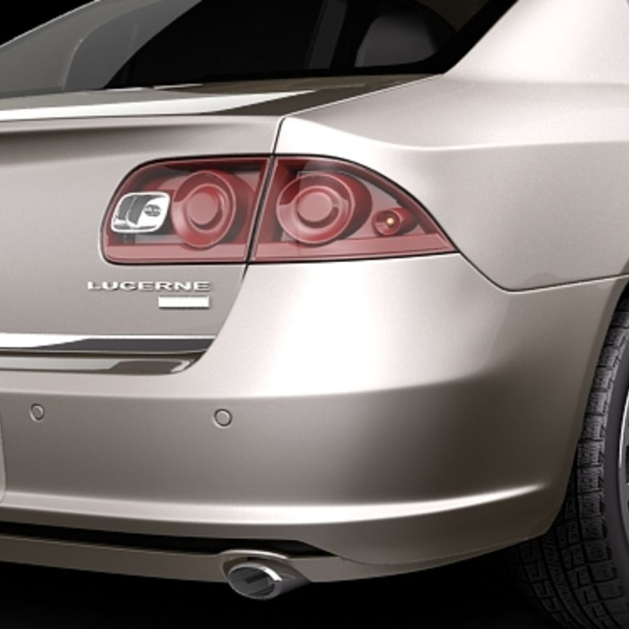 buick lucerne 2009 royalty-free 3d model - Preview no. 5