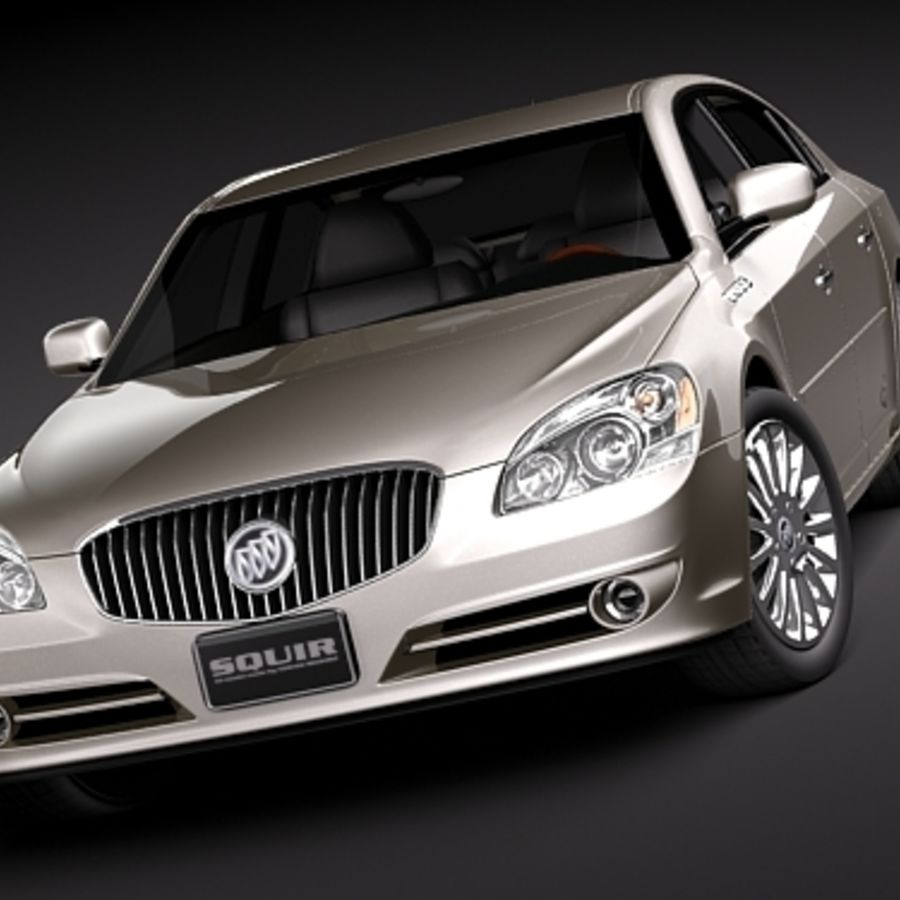buick lucerne 2009 royalty-free 3d model - Preview no. 2