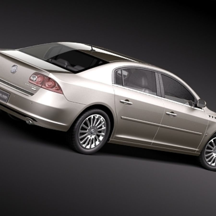 buick lucerne 2009 royalty-free 3d model - Preview no. 6