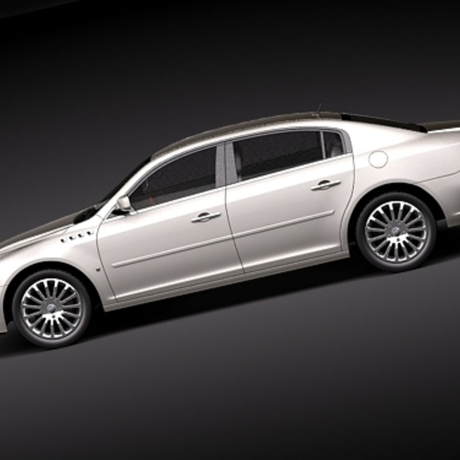 buick lucerne 2009 royalty-free 3d model - Preview no. 7