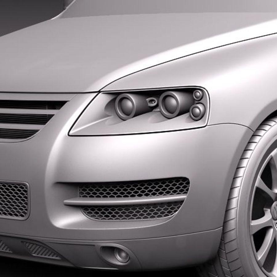 Фольксваген Туарег 2002-2007 royalty-free 3d model - Preview no. 10