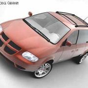 Dodge Caravan 2003 3d model
