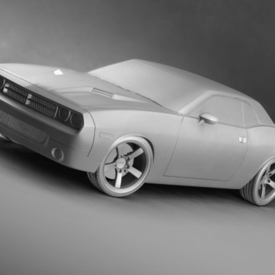 Dodge Challenger concept royalty-free 3d model - Preview no. 7