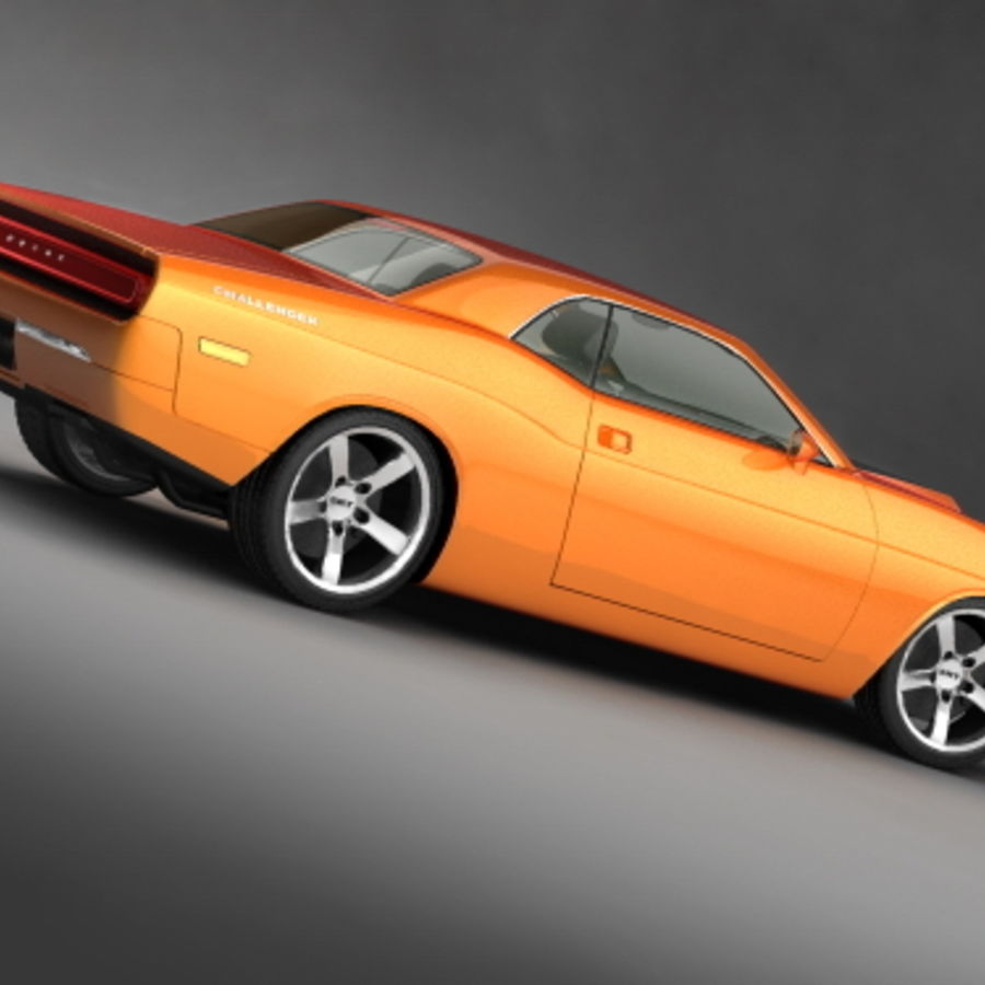Dodge Challenger concept royalty-free 3d model - Preview no. 5