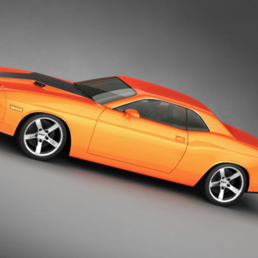 Dodge Challenger concept royalty-free 3d model - Preview no. 2