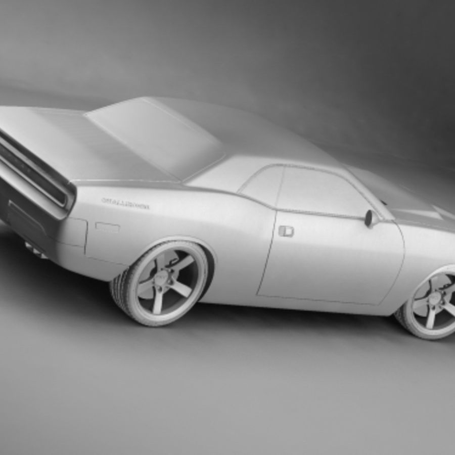Dodge Challenger concept royalty-free 3d model - Preview no. 6