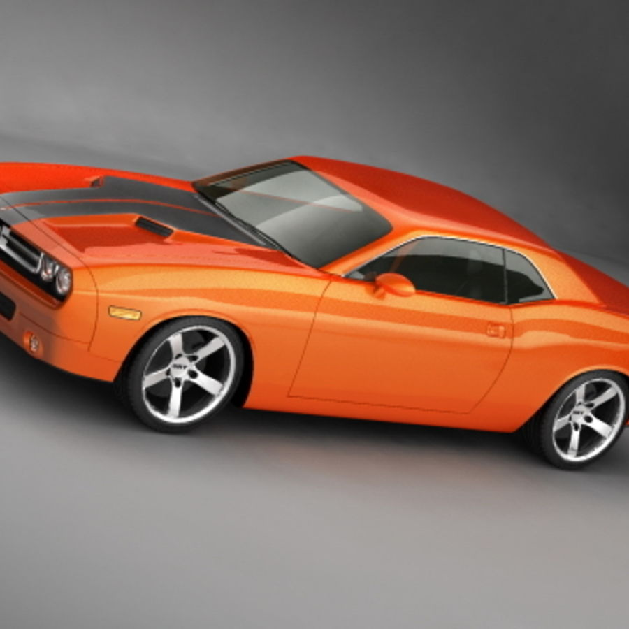 Dodge Challenger concept royalty-free 3d model - Preview no. 1