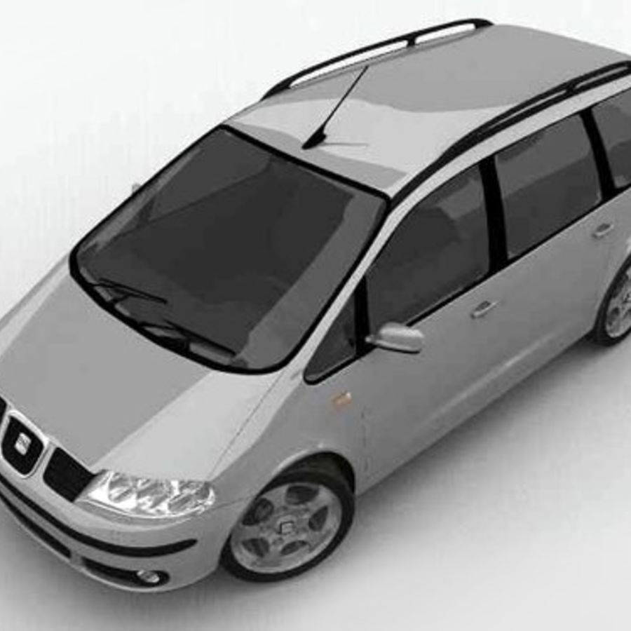 Seat Alhambra royalty-free 3d model - Preview no. 5