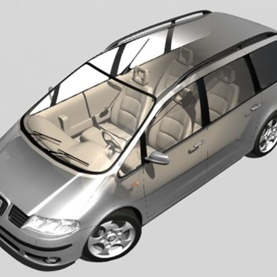 Seat Alhambra royalty-free 3d model - Preview no. 1