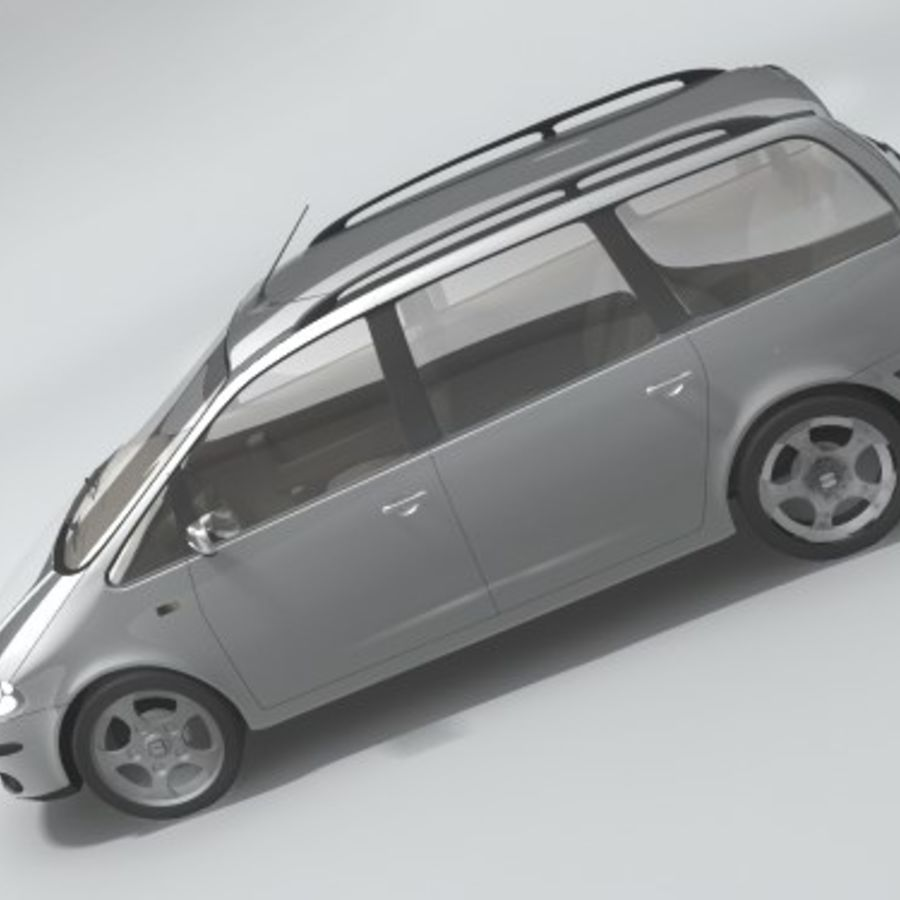 Seat Alhambra royalty-free 3d model - Preview no. 3