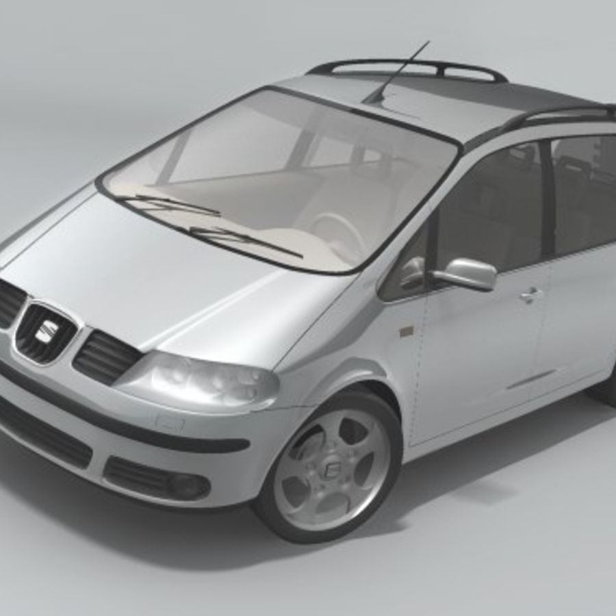 Seat Alhambra royalty-free 3d model - Preview no. 2