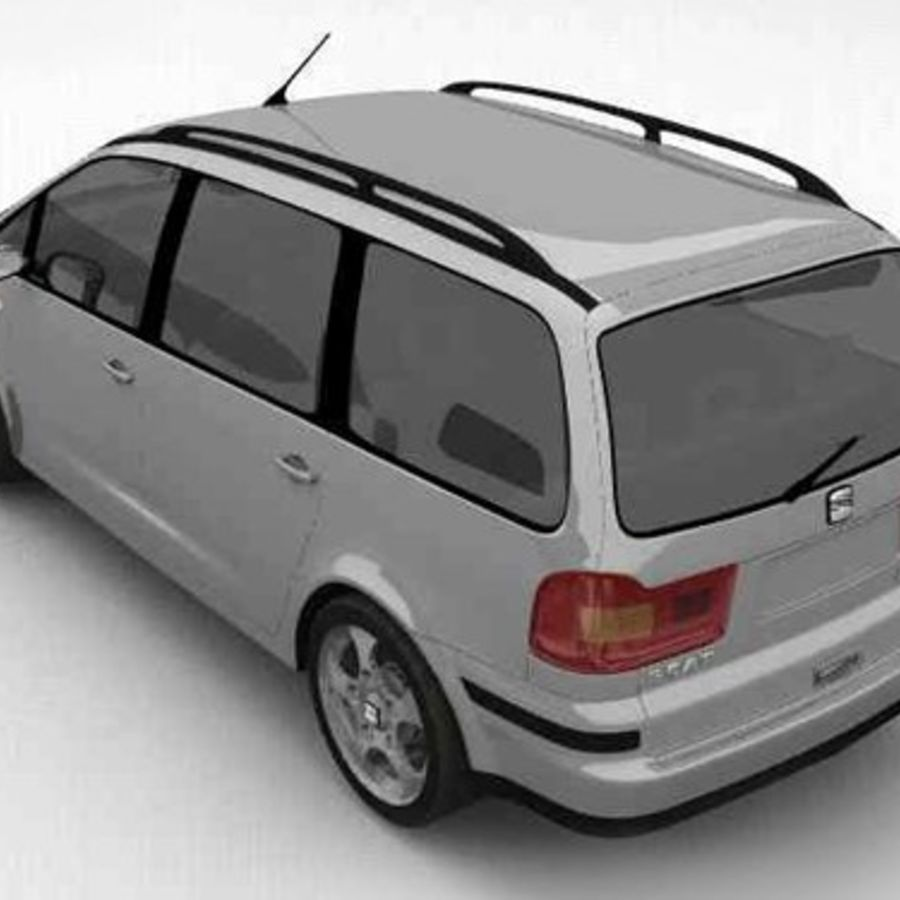 Seat Alhambra royalty-free 3d model - Preview no. 4