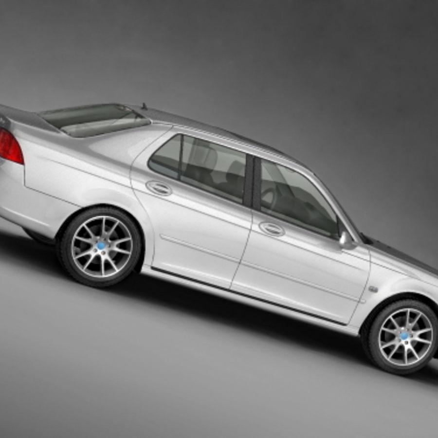 サーブ9-5セダン2006 royalty-free 3d model - Preview no. 2