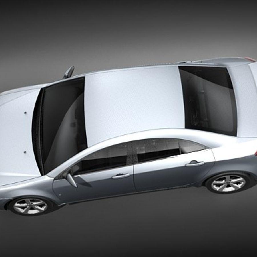 Pontiac G6 sedan royalty-free 3d model - Preview no. 8