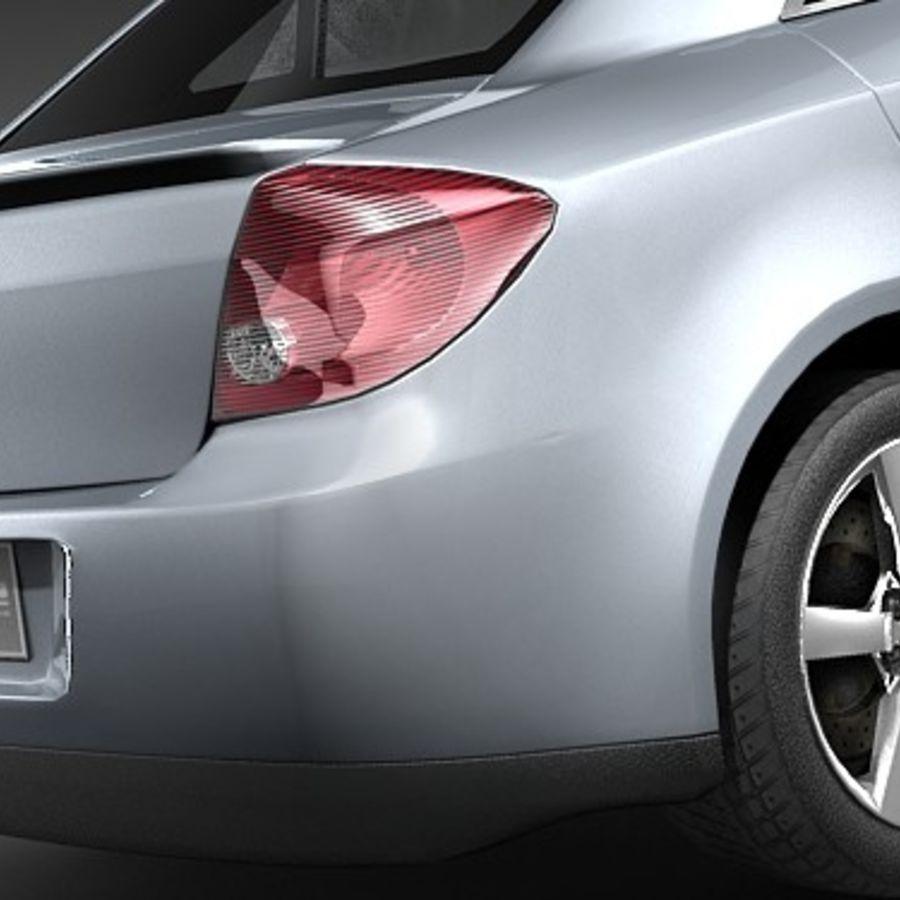 Pontiac G6 sedan royalty-free 3d model - Preview no. 4