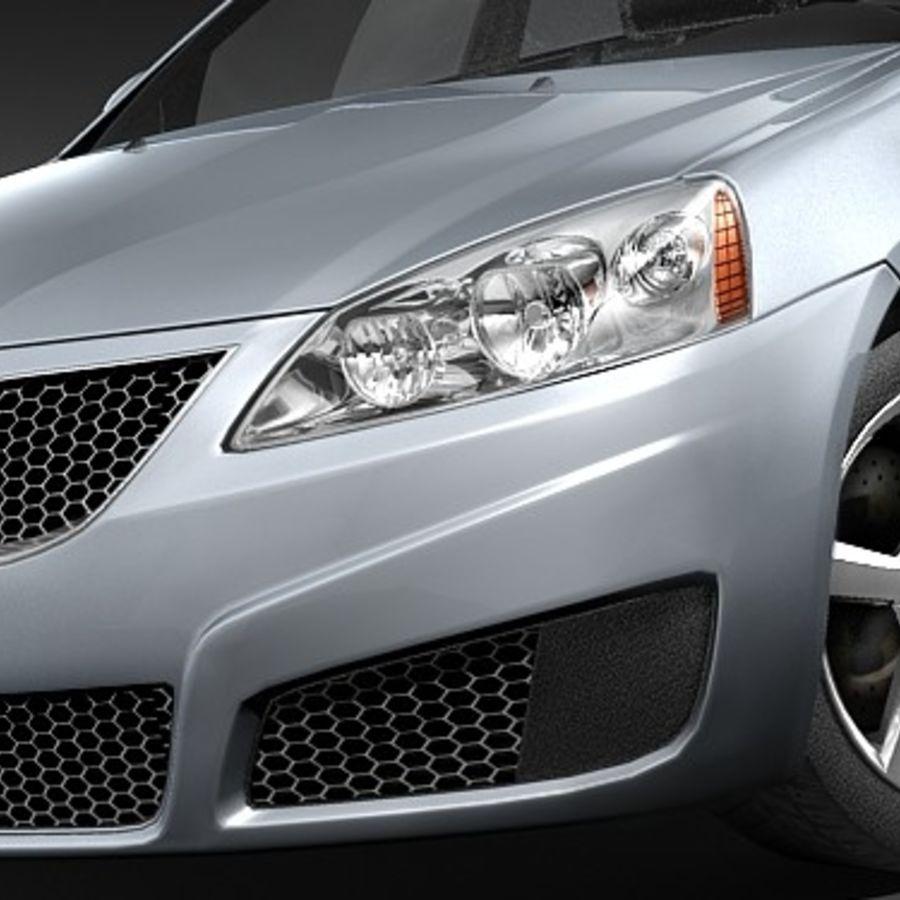 Pontiac G6 sedan royalty-free 3d model - Preview no. 3