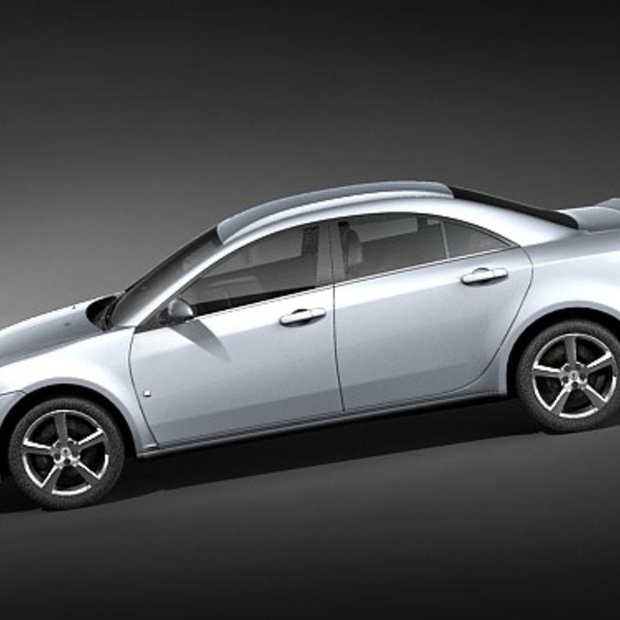Pontiac G6 sedan royalty-free 3d model - Preview no. 7