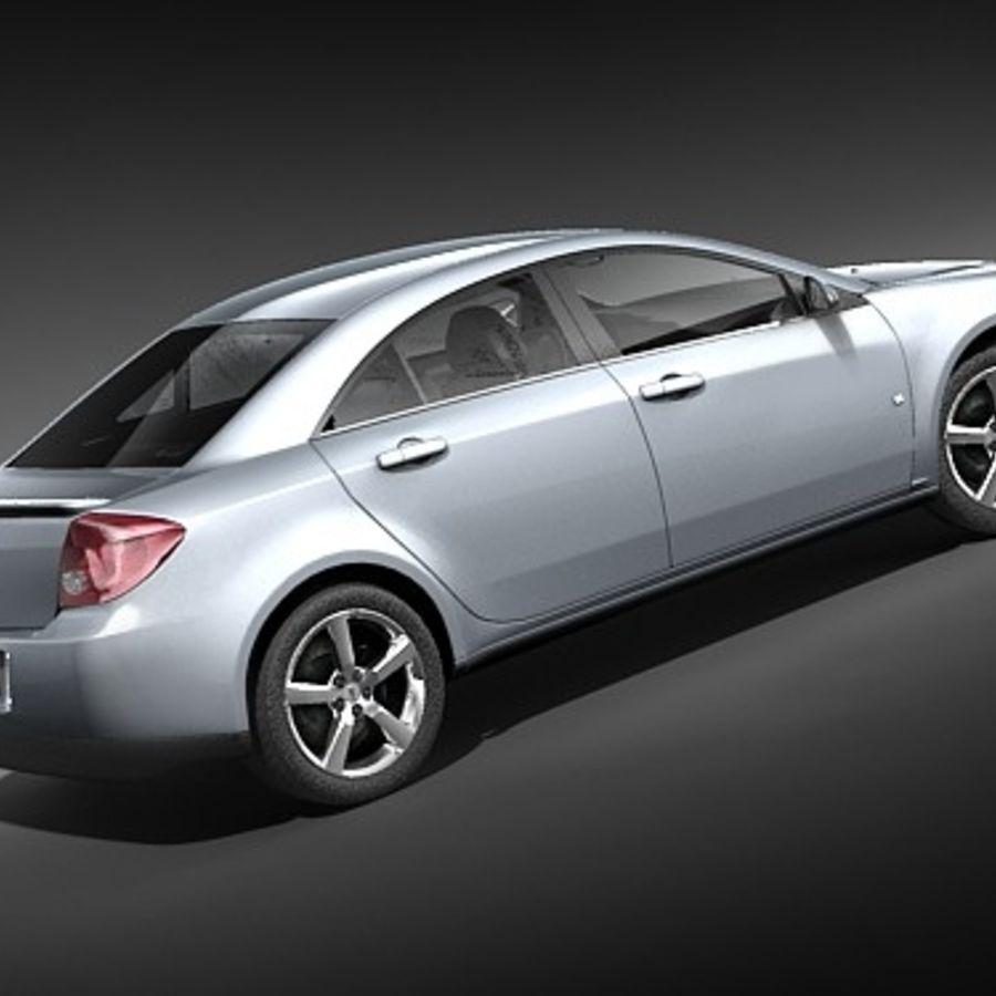 Pontiac G6 sedan royalty-free 3d model - Preview no. 6