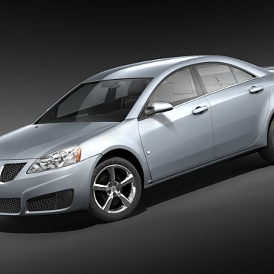 Pontiac G6 sedan royalty-free 3d model - Preview no. 1