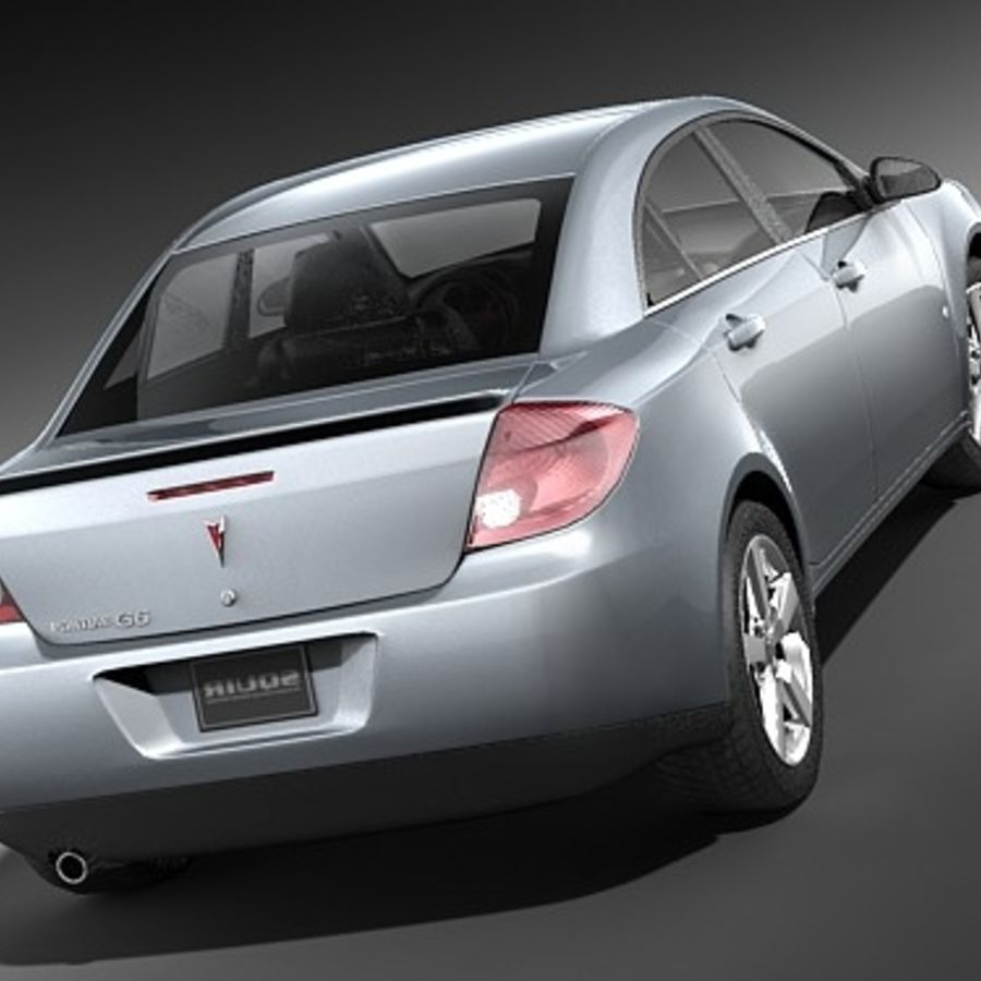 Pontiac G6 sedan royalty-free 3d model - Preview no. 5