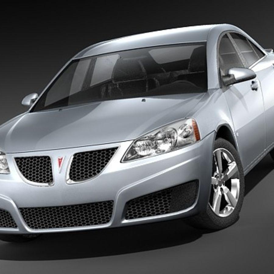 Pontiac G6 sedan royalty-free 3d model - Preview no. 2