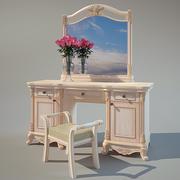 Vanity Dressing Table & Stool 3d model