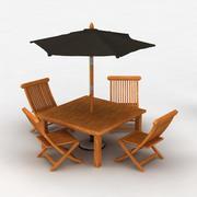 Cedar garden set 2 3d model