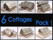 Cottage Collection, Interiors, Low Poly 3d model