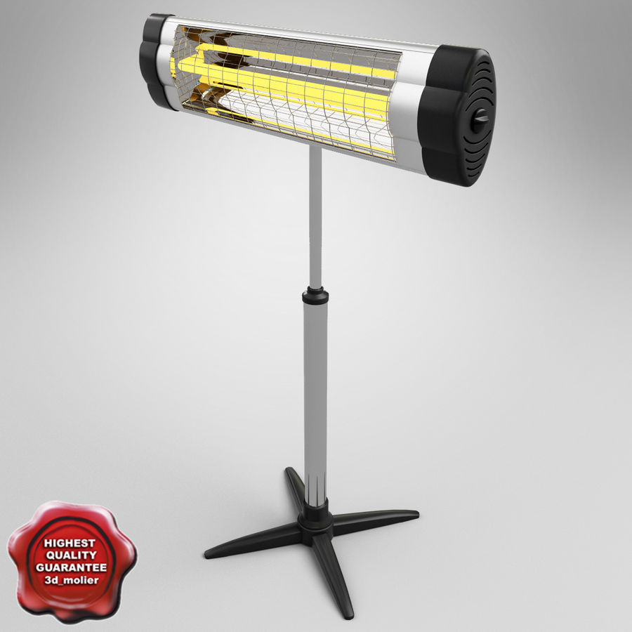 UFO Infrared Heater royalty-free 3d model - Preview no. 1