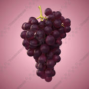 Red Grapes 3d model