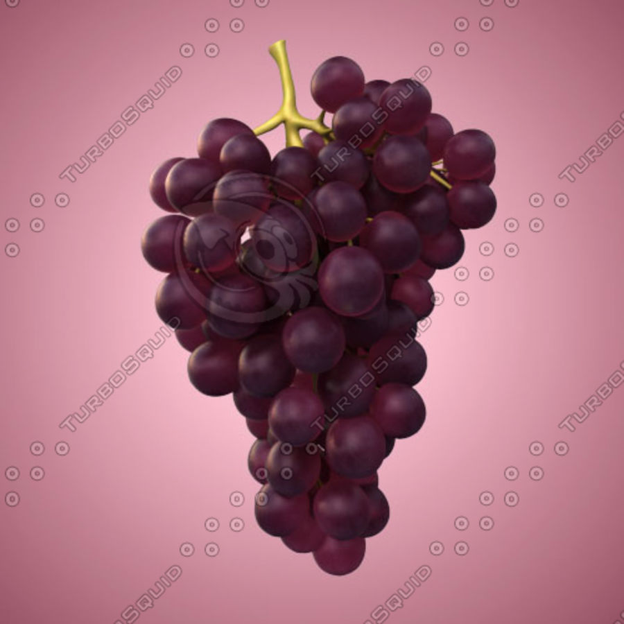 Red Grapes royalty-free 3d model - Preview no. 1
