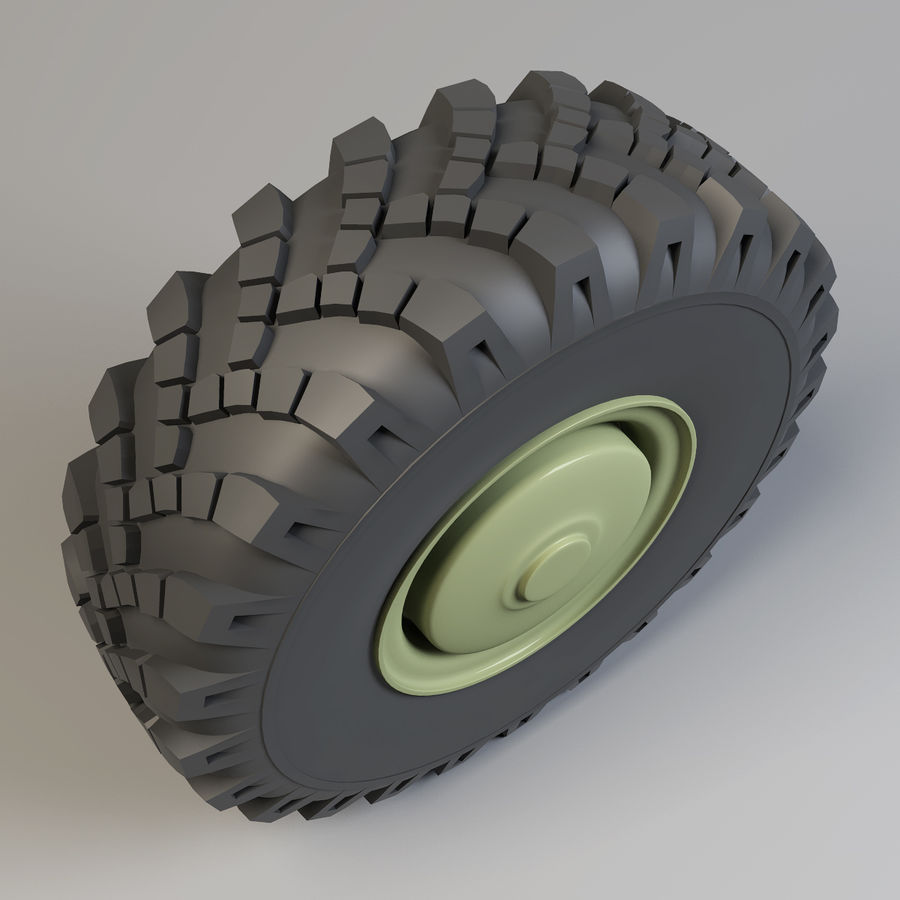 Heavy Vehicle Wheel royalty-free 3d model - Preview no. 3