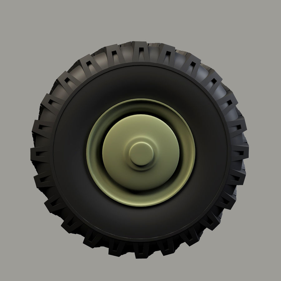 Heavy Vehicle Wheel royalty-free 3d model - Preview no. 4