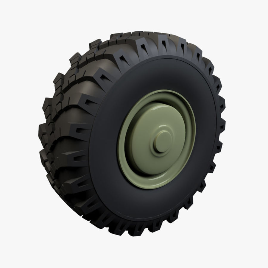 Heavy Vehicle Wheel royalty-free 3d model - Preview no. 1