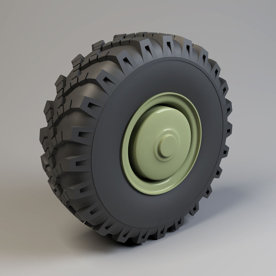 Heavy Vehicle Wheel royalty-free 3d model - Preview no. 2
