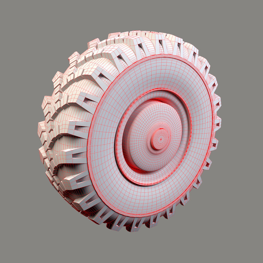 Heavy Vehicle Wheel royalty-free 3d model - Preview no. 6