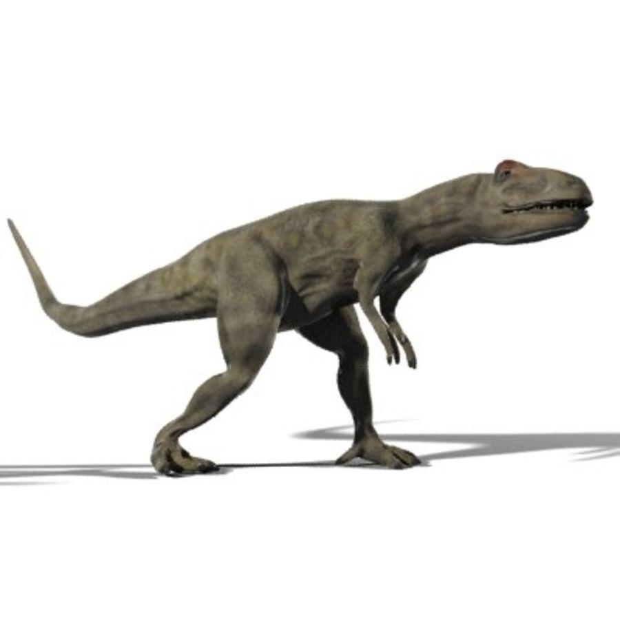 Allosaurus royalty-free 3d model - Preview no. 2