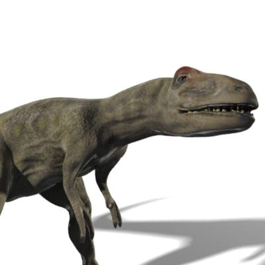Allosaurus royalty-free 3d model - Preview no. 3