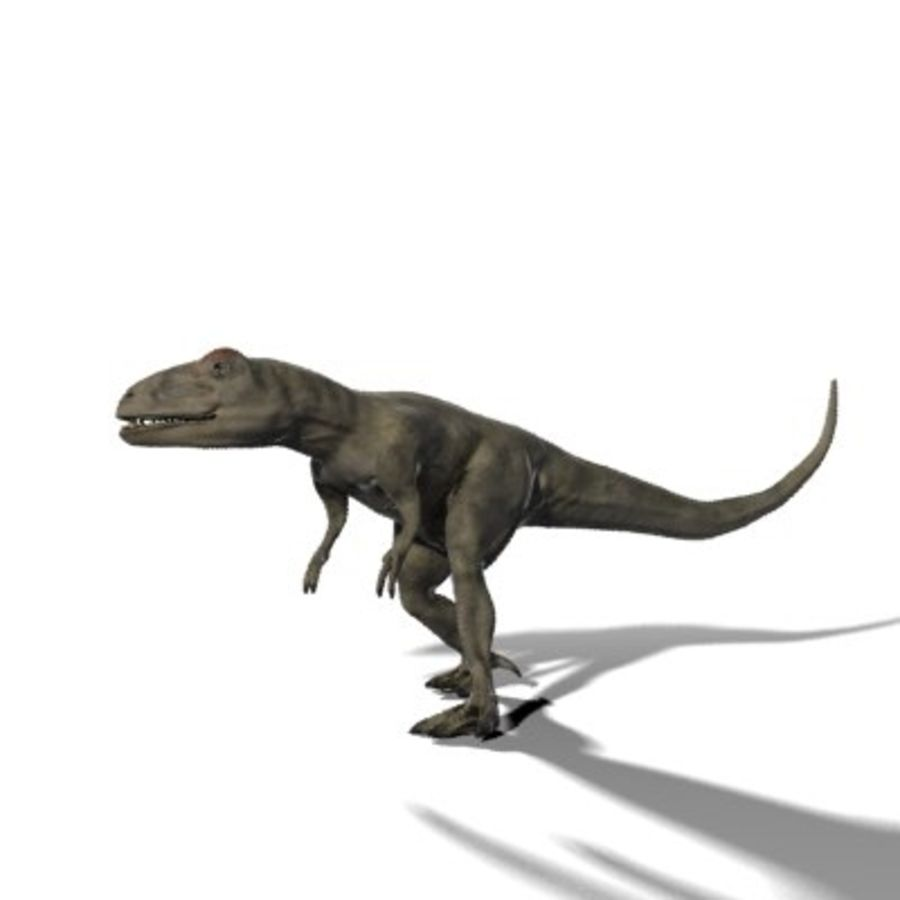 Allosaurus royalty-free 3d model - Preview no. 4