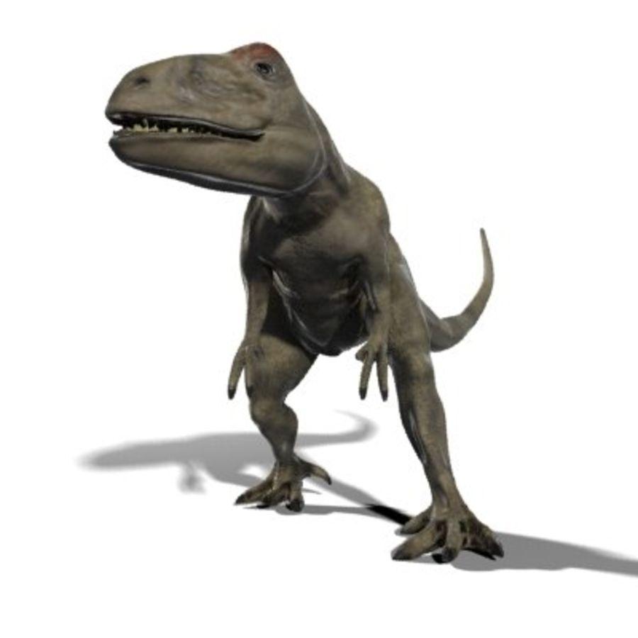Allosaurus royalty-free 3d model - Preview no. 1