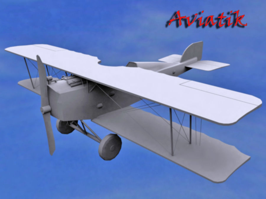 Aviatik royalty-free 3d model - Preview no. 5
