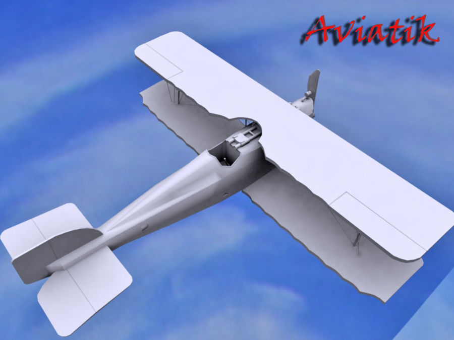 Aviatik royalty-free 3d model - Preview no. 3